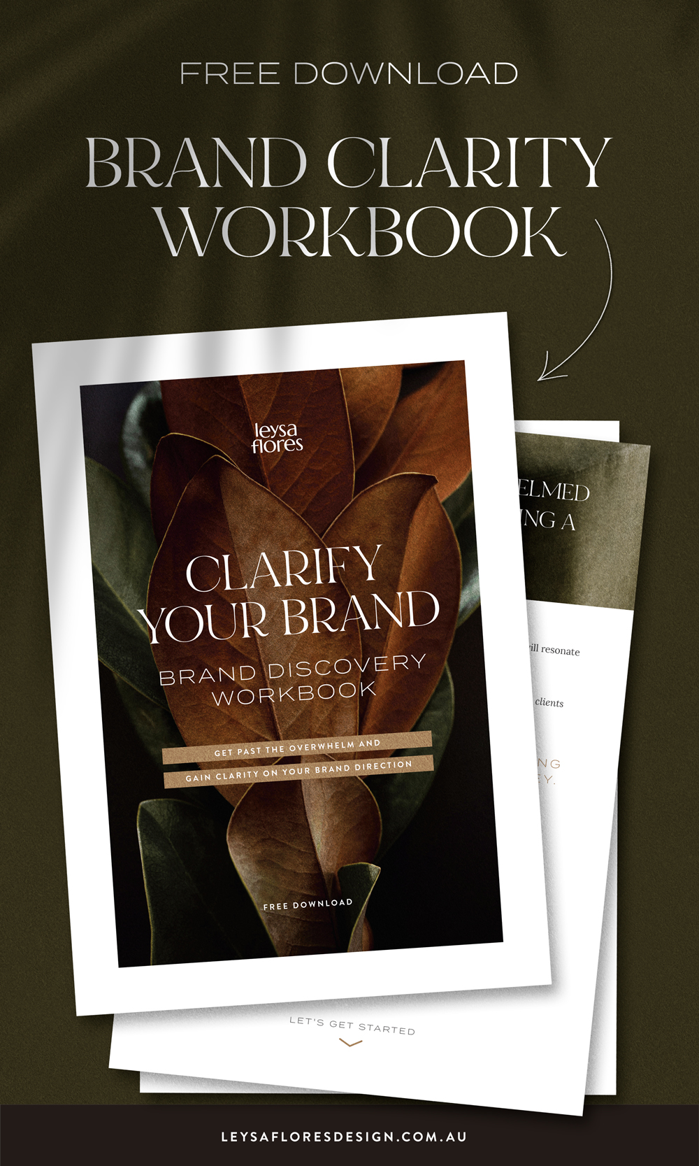 Clarify Your Brand discovery workbook | free download via Leysa Flores Design