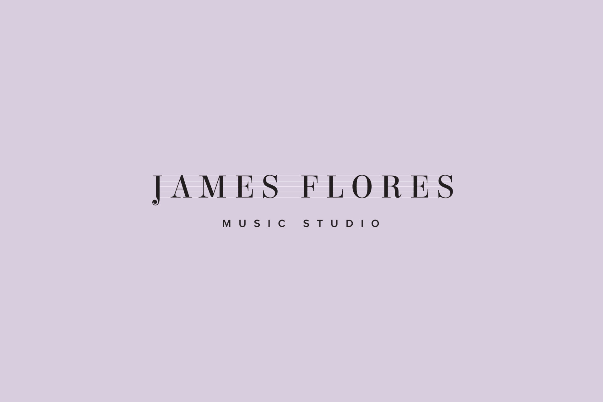 James Flores Music Studio branding by Leysa Flores