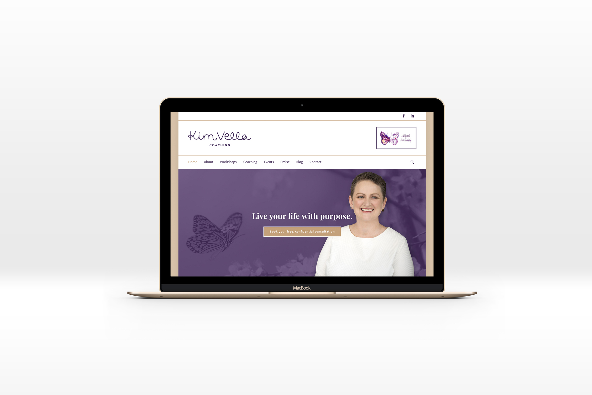 Kim Vella Coaching branding by Leysa Flores Design