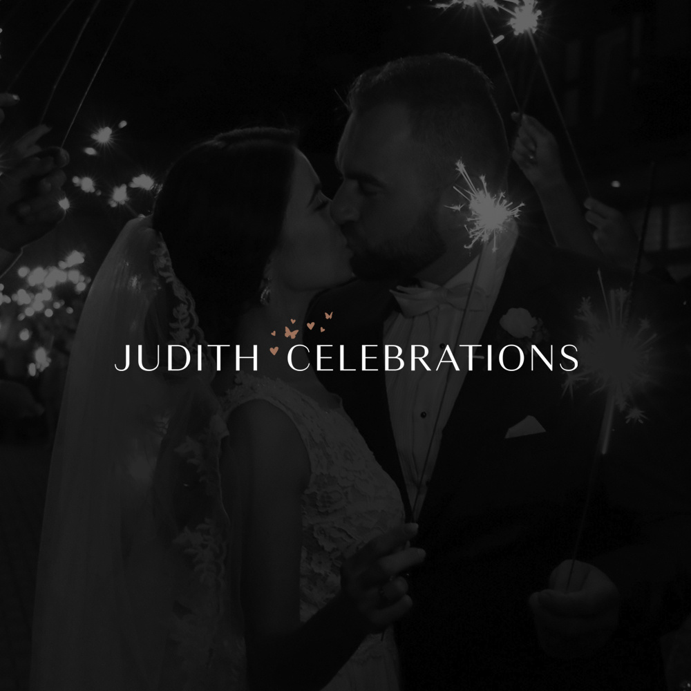 Judith Celebrations brand design by Leysa Flores