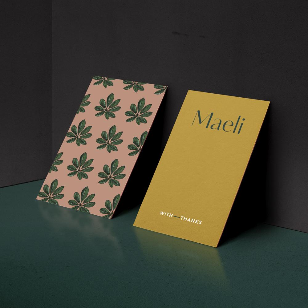 Maeli brand design by Leysa Flores