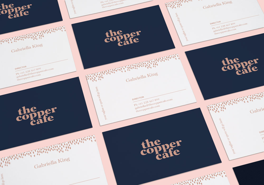 The Copper Cafe | Brand pack by Leysa Flores Design