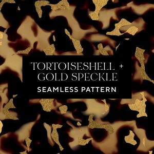 Tortoiseshell Gold Speckle Seamless Pattern texture | tileable repeating swatch