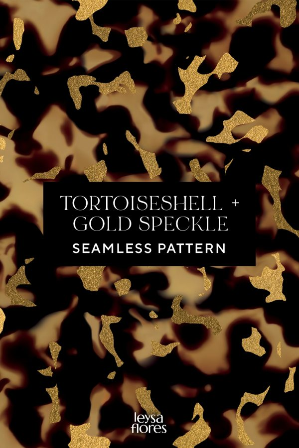 Tortoiseshell Gold Speckle Seamless Pattern texture   tileable repeating swatch