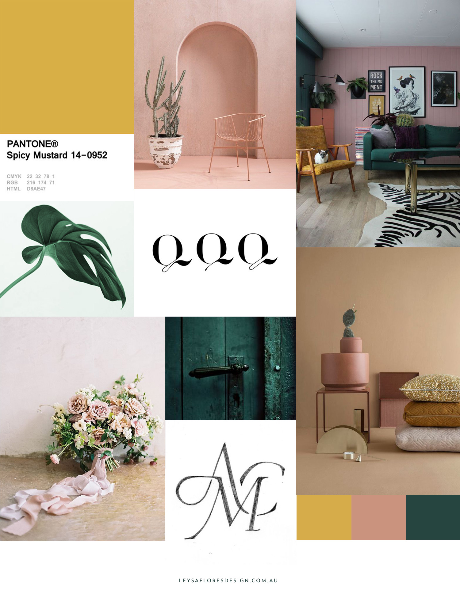 Autumn 2017 inspired colour palette moodboard